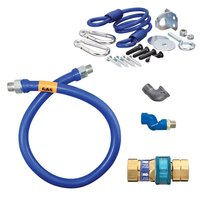 48 inch Dormont 1675BPQSR SwivelMAX Gas Connector Kit with Coiled Restraining Device - 3/4 inch Diameter