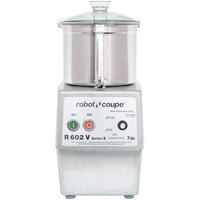 Robot Coupe R602VB Variable Speed Food Processor with 7 Qt. Stainless Steel Bowl - 3 hp