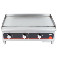 Vollrath 40721 Cayenne 36 inch Flat Top Gas Countertop Griddle - Manual Control