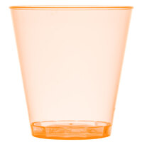 Fineline Quenchers 402-ORG 2 oz. Neon Orange Hard Plastic Shot Cup - 50/Pack