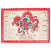Hoffmaster 310645 10 inch x 14 inch Chinese Zodiac Paper Placemat - 1000/Case