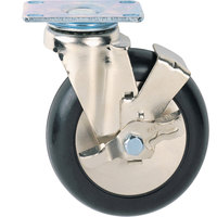 Metro C6PB 6 inch Super Erecta Polyurethane Swivel Plate Caster with Brake