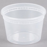 Newspring SD5016Y 16 oz. Translucent Round Deli Container - 480/Case