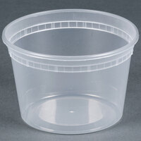 Newspring SD5016Y 16 oz. Translucent Round Deli Container - 480 / Case