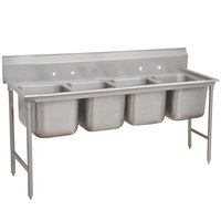 Advance Tabco 9-4-72 Super Saver Four Compartment Pot Sink - 81 inch