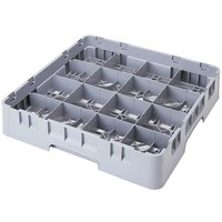 Cambro 16S1058151 Camrack 11 inch High 16 Soft Gray Compartment Glass Rack