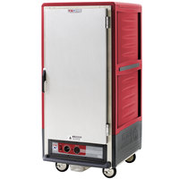 Metro C537-HFS-4 C5 3 Series Heated Holding Cabinet with Solid Door - Red