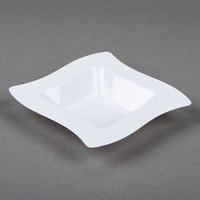 Fineline Wavetrends 105-WH White Plastic Bowl 5 oz.   - 120/Case
