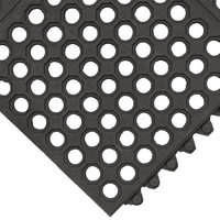 Cactus Mat 2523-C35 VIP Prima 3' x 5' Black Connectable Anti-Fatigue Floor Mat - 1/2 inch Thick