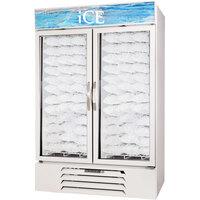Beverage Air MMF49-1-W-ICE MarketMax White Indoor Ice Merchandiser with Swing Doors - 49 Cu. Ft.
