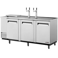Turbo Air TCB-4SD 90 inch Super Deluxe Stainless Steel Club Top Beer Dispenser - 4 Kegs