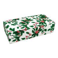 7 1/8 inch x 3 3/8 inch x 1 7/8 inch 1-Piece 1 lb. Holly Candy Box - 250/Case