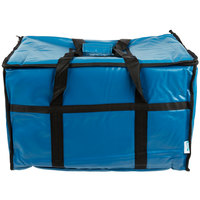 "Choice 23"" x 13"" x 15"" Blue Insulated Vinyl Food Pan Carrier"