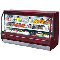 Turbo Air TCDD-96-4-H Red 96 inch Curved Glass Refrigerated Deli Case - 28.8 Cu. Ft.