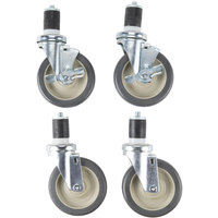 Star SM-CAST Swivel Stem Casters for Star Max and Ultra Max Equipment Stands - 4/Set