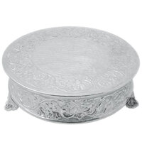 Tabletop Classics AC-88514 14 inch Ornate Nickel Plated Round Cake Stand