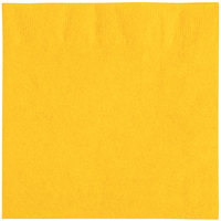 "Choice 10"" x 10"" Sunny Yellow 2-Ply Customizable Beverage / Cocktail Napkin - 1000/Case"