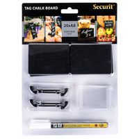 American Metalcraft TAGA8WT 3 inch x 2 inch Mini Chalk Cards and Marker Display Kit - 20 / Pack