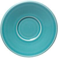 Homer Laughlin 293107 Fiesta Turquoise 6 3/4 inch Jumbo Saucer - 12 / Case