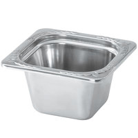 Vollrath 8264220 Miramar 1/6 Size Satin Finish Decorative Food Pan - 4 inch Deep