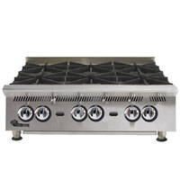 Star 806HA Ultra Max 6 Burner Countertop Range / Hot Plate 180,000 BTU - 36 inch