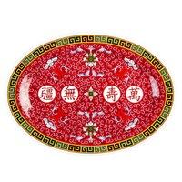 Longevity 9 7/8 inch x 7 1/4 inch Oval Melamine Platter - 12/Pack