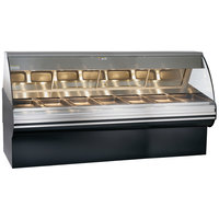 Alto-Shaam HN2SYS-96/PL S/S Stainless Steel Heated Display Case with Curved Glass and Base - Left Self Service 96 inch