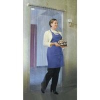 Curtron M106-PR-7980 79 inch x 80 inch Polar Reinforced Step-In Refrigerator / Freezer Strip Door