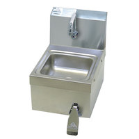 Advance Tabco 7-PS-63 Space Saver Hands Free Hand Sink with Knee Valve - 12 1/4 inch