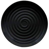 GET ML-84-BK Milano 15 inch Black Melamine Round Plate - 6 / Pack