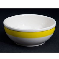 CAC R-18-YEL Rainbow Nappie Bowl 15 oz. - Yellow - 36/Case
