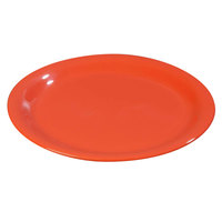 Carlisle 3300652 Sierrus 7 1/4 inch Sunset Orange Narrow Rim Melamine Salad Plate - 48/Case