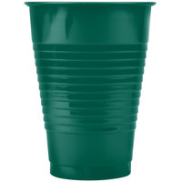 Creative Converting 28312471 12 oz. Hunter Green Plastic Cup - 20 / Pack