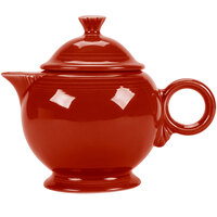 Homer Laughlin 496326 Fiesta Scarlet 44 oz. Covered Teapot - 4 Sets / Case