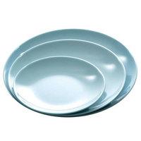 Blue Jade 15 3/4 inch Round Melamine Serving Platter - 12/Case