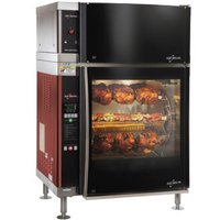 Alto-Shaam AR-7EVH-DBLPANE Double Pane Curved Glass Rotisserie Oven with 7 Spits and Ventless Hood - 208V