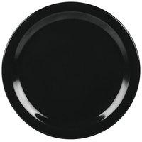 Carlisle 4350003 Dallas Ware 10 1/4 inch Black Melamine Plate   - 48/Case