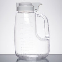 Tablecraft L48 Option 48 oz. Dispenser Jar with Gray Top
