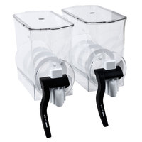 Bunn 34000.0208 Clear Hoppers with Flat Lids for Ultra-2 Frozen Beverage Systems