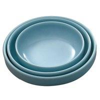 Blue Jade 3 oz. Round Melamine Flat Bowl - 12/Case
