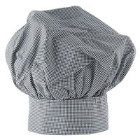 13 inch Black and White Chef Hat