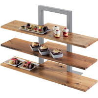 Cal-Mil 1449-99 32 inch x 11 1/2 inch Reclaimed Wood Shelf for 3 Tier Frame Riser