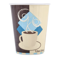 Dart Solo IC12-J7534 Duo Shield 12 oz. Poly Paper Hot Cup - 600 / Case