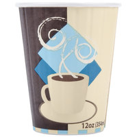 Dart Solo IC12-J7534 Duo Shield 12 oz. Poly Paper Hot Cup - 600/Case