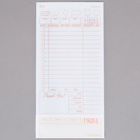 Choice 2 Part Tan and White Carbonless Guest Check with Beverage Lines and Bottom Guest Receipt - 2000/Case