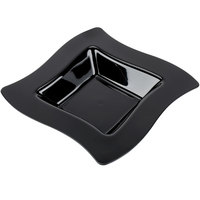 Fineline Wavetrends 112-BK Black Plastic Bowl 12 oz. - 10 / Pack