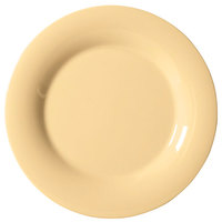 GET WP-7-SQ Squash Diamond Harvest 7 1/2 inch Wide Rim Plate - 48 / Case