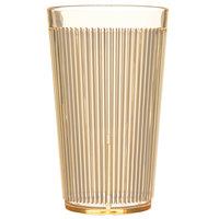 Carlisle 403322 Crystalon Glo-Honey Yellow RimGlow Polycarbonate Tumbler 12 oz. - 48/Case