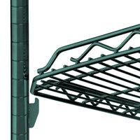 Metro HDM1448Q-DHG qwikSLOT Drop Mat Hunter Green Wire Shelf - 14 inch x 48 inch