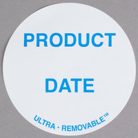 National Checking Company UP4904 3 inch Product Date Dot Ultra Removable Label - 500/Roll